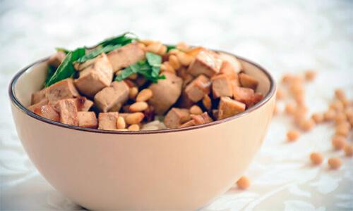 אורז טופו וצנוברים